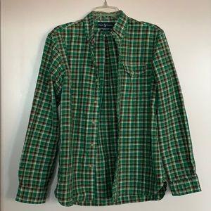 Ralph Lauren Green Flannel Shirt Size M